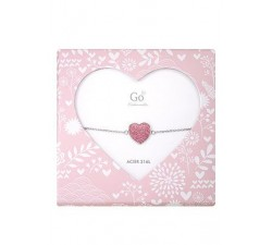 Bracelet GO Mademoiselle enfant coeur acier 609809