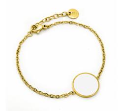 Bracelet femme Symphony Acier doré jaune Pierre Lannier Blanc BJ04A1211