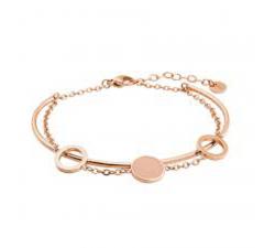 Bracelet femme Symphony Acier doré rose Pierre Lannier Rose BJ04A8458
