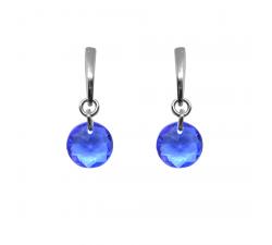 Boucles d'oreilles argent 925/1000 et éléments de cristaux Indicolite BOPU-SOPH-206