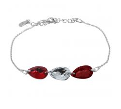 Bracelet argent 925/1000 et éléments de cristaux Indicolite BR-3LARM-001SH