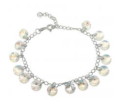 Bracelet argent 925/1000 et éléments de cristaux Indicolite BR-HELEN-001SH