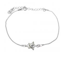 Bracelet argent 925/1000 et éléments de cristaux Indicolite BR-STAR-001