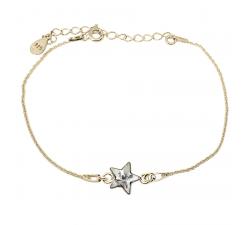 Bracelet argent 925/1000 plaqué or jaune et éléments de cristaux Indicolite BR-STARPJ-001