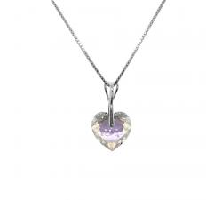 Collier argent 925/1000 et éléments de cristaux Indicolite CO-INES-001SH