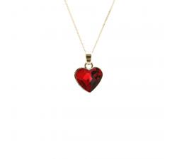 Collier coeur argent 925/1000 et éléments de cristaux Indicolite CO-LISAPJ-227