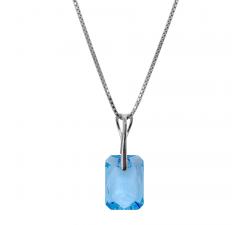Collier argent 925/1000 et éléments de cristaux Indicolite CO-NOEMIE-202