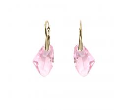 Boucles d'oreilles argent 925/1000 plaqué or jaune et éléments de cristaux Indicolite DO-ALICIAPJ-223