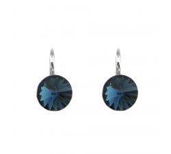 Boucles d'oreilles argent 925/1000 et éléments de cristaux Indicolite DO-EMI-207