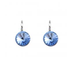 Boucles d'oreilles argent 925/1000 et éléments de cristaux Indicolite DO-EMI-211