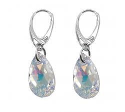 Boucles d'oreilles argent 925/1000 et éléments de cristaux Indicolite DO-LARM-001AB