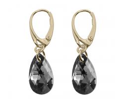 Boucles d'oreilles argent 925/1000 plaqué or jaune et éléments de cristaux Indicolite DO-LARMPJ-SINI