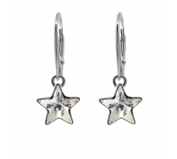 Boucles d'oreilles argent 925/1000 et éléments de cristaux Indicolite DO-STAR-001