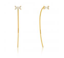 Boucles d'oreilles femme argent 925/1000 doré Ania Haie Glow getter E018-01G