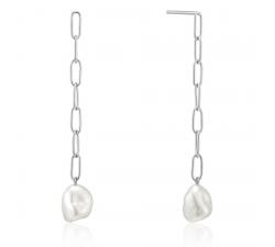 Boucles d'oreilles femme argent 925/1000 Ania Haie Pearl off Wisdom E019-05H