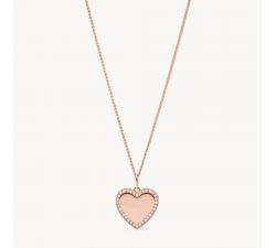 Collier femme chaîne coeur je t'aime FOSSIL JF03362791