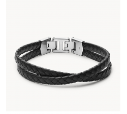 Bracelet homme multi-rangs Leather essentials FOSSIL JF03684040