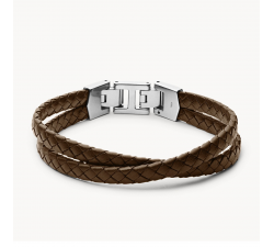 Bracelet homme multi-rangs Leather essentials FOSSIL JF03685040