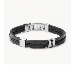 Bracelet homme multi-rangs Leather essentials FOSSIL JF03686040