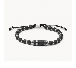 Bracelet de perles homme caravan en acier FOSSIL JF03688040