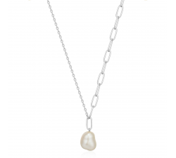 Collier femme argent 925/1000 Ania Haie Pearl Of Wisdom N019-03H