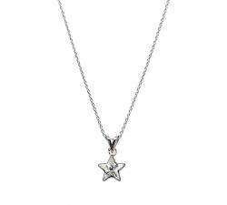 Collier argent 925/1000 et Swarovski elements Indicolite PE-STAR-001