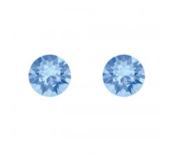 Boucles d'oreilles argent 925/1000 et Swarovski elements Indicolite PU-RON-211