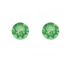 Boucles d'oreilles argent 925/1000 et Swarovski elements Indicolite PU-RON-214
