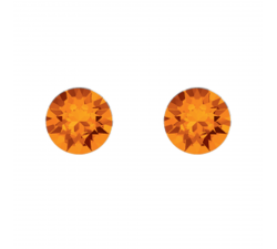 Boucles d'oreilles argent 925/1000 et éléments de cristaux Indicolite PU-RON-259