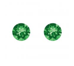 Boucles d'oreilles argent 925/1000 et éléments de cristaux Indicolite PU-RON-291