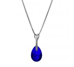 Collier argent 925/1000 et éléments de cristaux Indicolite CO-KATE-296