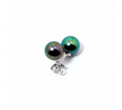 Boucles d'oreilles puces Epure argent 925/1000 et perles de Tahiti IZA B EP-018-BO