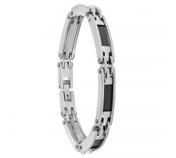 Bracelet TULUM acier bicolore noir JOURDAN JH110008B