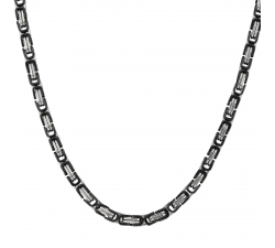 Collier Stanley acier bicolore PVD noir JOURDAN MG 017 H