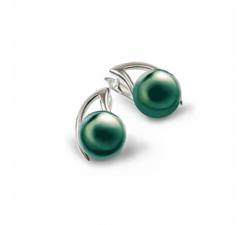 Boucles d'oreilles Canopée argent 925/1000 et perles de Tahiti IZA B SV-009-BO