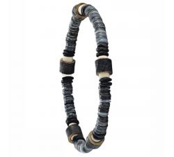 Bracelet élastique en bois de coco et de chêne GREENTIME ZWM003
