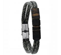Bracelet en corde et bois de chêne GREENTIME ZWM013