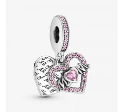 Charm Pendant Cœur & Mum (Maman) en Argent 925/1000 Pandora 799402C01
