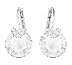 Boucles d'oreilles Bella V blanc, Métal rhodié Swarovski 5292855