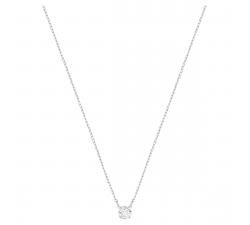 Collier Attract Round blanc, Métal rhodié SWAROVSKI 5408442