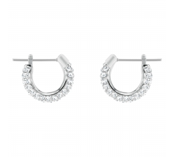 Boucles d'oreilles Stone blanc, Métal rhodié Swarovski 5446004