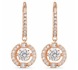 Boucles d'oreilles Swarovski Sparkling Dance blanc, métal doré rose Swarovski 5504753