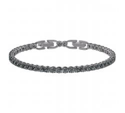 Bracelet Tennis Deluxe gris, Métal plaqué ruthénium Swarovski 5514655