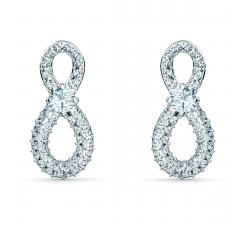 Boucles d'oreilles Swarovski Infinity Mini blanc, métal rhodié Swarovski 5518880