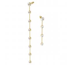 Boucles d'oreilles Constella Asymmetrical, White, Gold-tone plated Swarovski 5600490