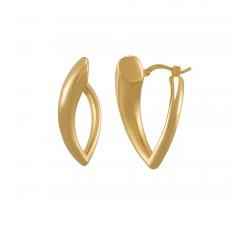 Boucles d'oreilles femme argent 925/1000 doré Charles Garnier Paris 1901 Formes AGF170054E