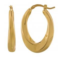 Boucles d'oreilles femme argent 925/1000 doré Charles Garnier Paris 1901 Formes AGF170056E
