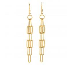 Boucles d'oreilles femme argent 925/1000 doré Charles Garnier Paris 1901 STYLES AGF170034E
