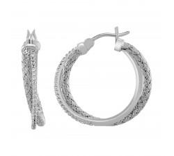 Boucles d'oreilles femme argent 925/1000 Charles Garnier Paris 1901 LIANES AGF170009E