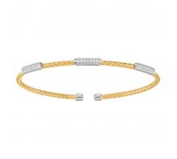 Bracelet rigide femme argent 925/1000 bicolore Charles Garnier Paris 1901 LIANES AGF170039B